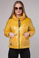 Короткая желтая курточка Visdeer 203