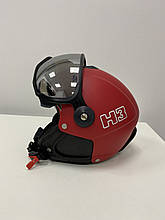 Шлем горнолыжный с визором HMR Colori H3 Rosso Red 006 red/black XL/L