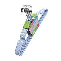 Металлические вешалки плечики в тонком силиконе разные цвета, 40.5 см, 10 шт в упаковке