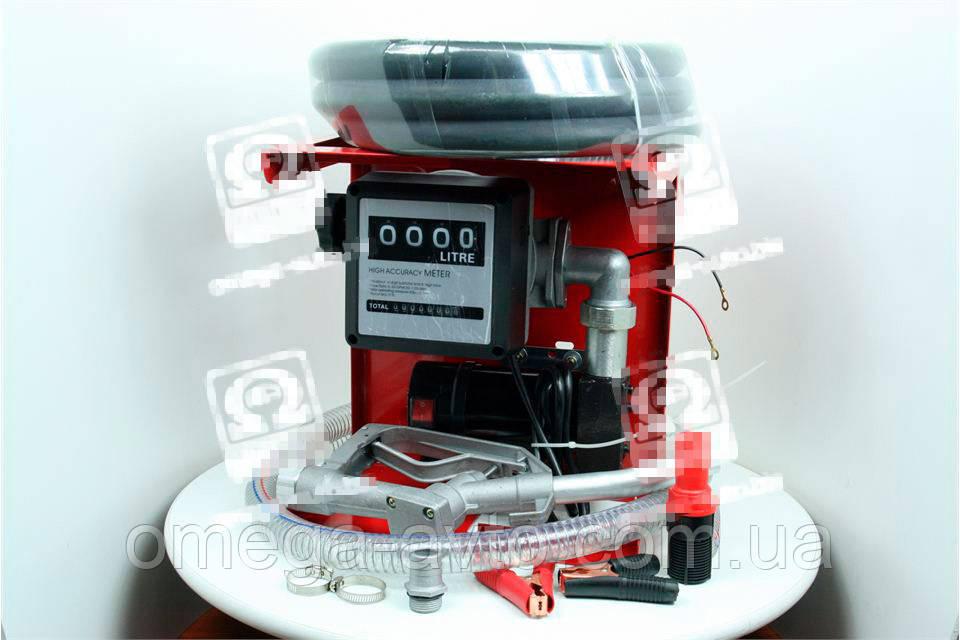 Насос топливоперекачивающий, помповый, 12В счетчик+пистолет (Дорожная Карта) DK8020-12V