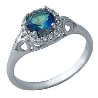 Серебряное кольцо GS с натуральным мистик топазом (1933855) 18 размер