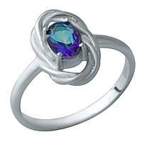Серебряное кольцо GS с натуральным мистик топазом (1933879) 18 размер