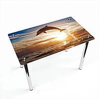 Стол обеденный на хромированных ножках Прямоугольный Sunset