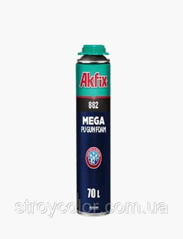 Піна монтажна професійна Akfix SUPER MEGA 882 70 л 850 мл зимова