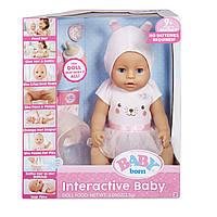 Интерактивная кукла пупс беби борн голубые глаза, Baby Born Blue Eyes with 9 Ways to Nurture. Оригинал