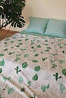 Качественное постельное бельё Кактус (евро размер)