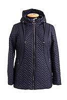 Куртка женская осень-весна большого размера  54-68  синий