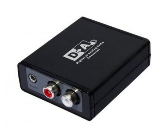 Цифровий HD аудіо конвертер AVCom AVC112 Digital Coaxial/Optical Toslink в Analog сигнал