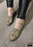 Женские туфли лоферы из натуральной кожи с кисточками, фото 5