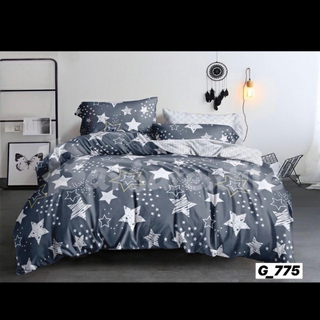 Качественное постельное бельё Звезды (евро размер)
