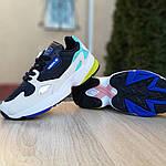 Женские кроссовки Adidas Falcon (черно-бирюзовые) 2958, фото 3