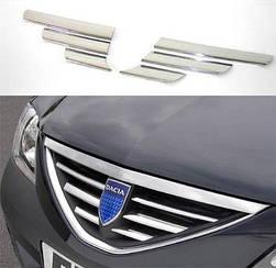 Накладки на решетку Dacia Logan