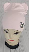 М 4504.Шапка трикотажная для девочки  Vivatricko, 3-8 лет, разные цвета, фото 1