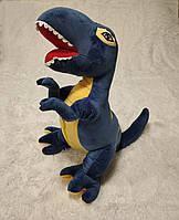 Игрушка подушка плед 3 в 1 Динозавр T-REX синий