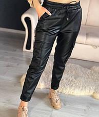 Женские кожаные брюки, фото 3
