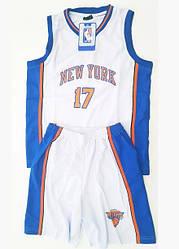 Детская баскетбольная форма NEW YORK белая