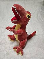 Игрушка подушка плед 3 в 1 Динозавр T-REX оранжевый, фото 1