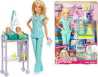 Кукла Барби Педиатр с двумя малышами Детский доктор Barbie Mattel