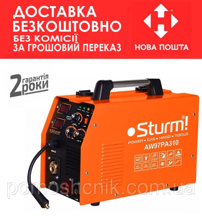 Сварочный инверторный полуавтомат Sturm AW97PA310