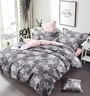 Двуспальный комплект постельного белья евро 200*220 сатин (13639) TM КРИСПОЛ Украина