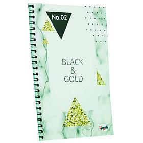 "Блокнот TM Profiplan Office ""Black & Gold"" triangle, А5"