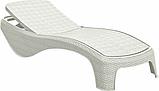 Шезлонг Keter Atlantic White ( белый ) из искусственного ротанга, фото 8