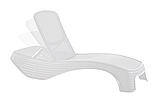 Шезлонг Keter Atlantic White ( белый ) из искусственного ротанга, фото 9
