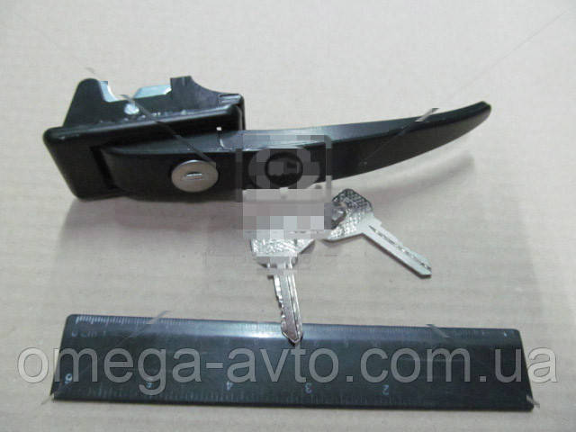 Ручка двери УАЗ 452 передней наружная в сборе (с замком и ключом) 452-6105150