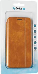 Чехол книжка на Huawei Honor 10i коричневый кожаный защитный чехол Gelius для телефона.