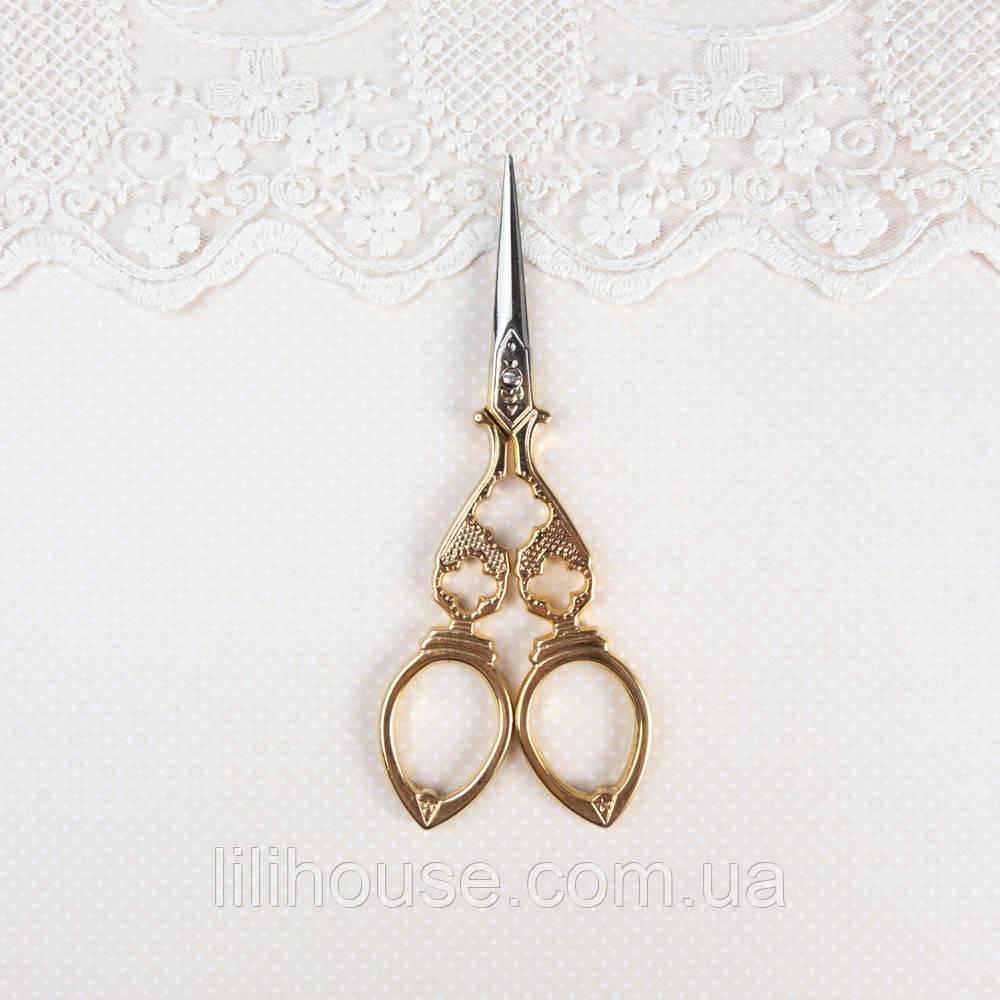 """Ножницы для рукоделия и вышивки """"Vintage"""" золото, 12 см"""