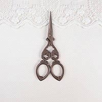 Ножницы для Рукоделия и Вышивки VINTAGE 12*5 см БРОНЗА, фото 1