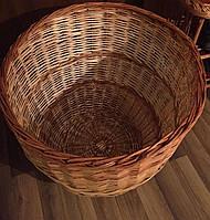 Корзина для белья овальная плетеная | корзина плетеная для хранения из лозы | ящик из лозы