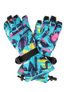 Детские горнолыжные перчатки High Experience голубой