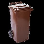 Бак для мусора 120л. темно-коричневый, серый, синий, оранжевый