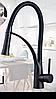 Змішувач кухонний SANTEP 12905 Чорний з силіконовим виливом