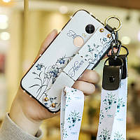 Чехол Lanyard для Xiaomi Redmi Note 4x / Note 4 Global (Snapdragon) бампер с ремешком White