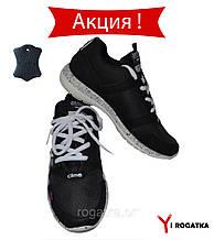 Подростковые кожаные кроссовки SPLINTER. Черные
