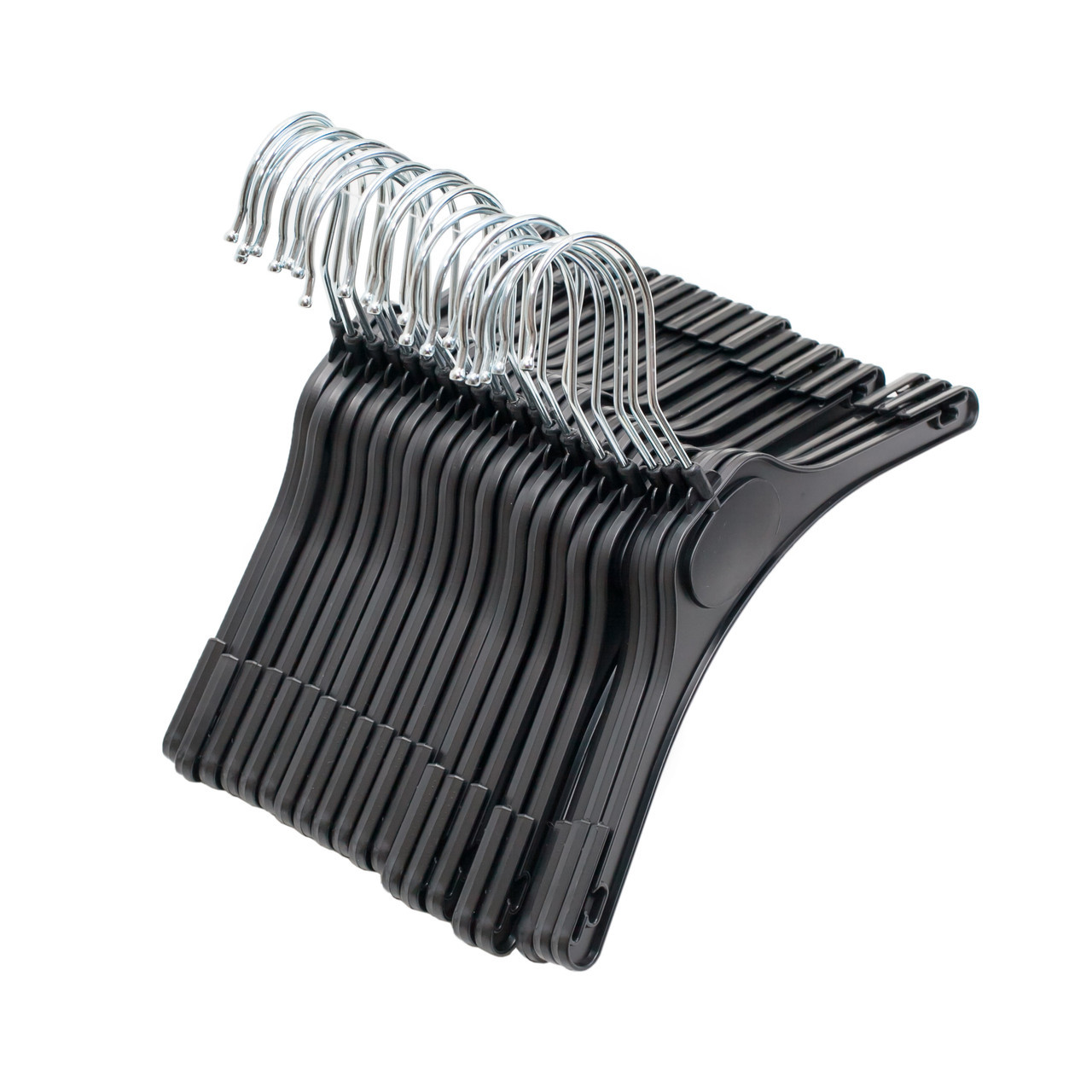 Детские вешалки плечики пластиковые черного цвета, 26см