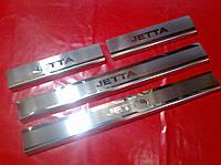 Накладки на пороги премиум Volkswagen Jetta 6 2010-2017