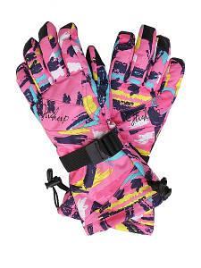 Детские горнолыжные перчатки High Experience розовые