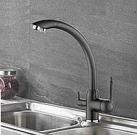 Смеситель для кухни с подключением к фильтру SANTEP 5678F Черный