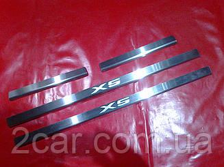 Накладки на пороги BMW X5 E-53