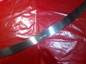 Накладка на задний бампер с загибом BMW X5 E70