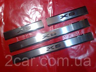Накладки на пороги BMW X5 E70 премиум