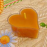 Восковая чайная свеча Валентинка 36г в пластиковом прозрачном контейнере, фото 5