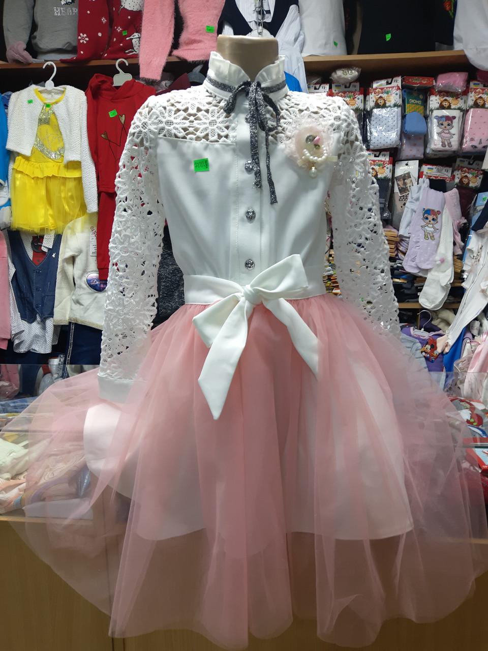 платье Нарядное детское Две юбки р.122-152