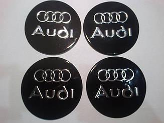 Наклейка на колпаки Audi 90 мм