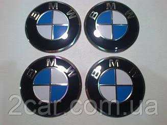 Наклейка выпуклая на колпачок диска BMW 56 мм