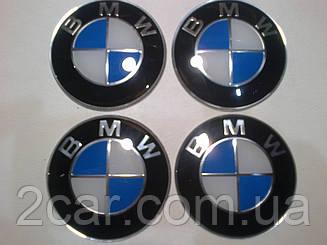 Наклейка выпуклая на колпачок диска BMW 65 мм