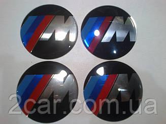 Наклейка выпуклая на колпачок диска BMW M-style 65 мм
